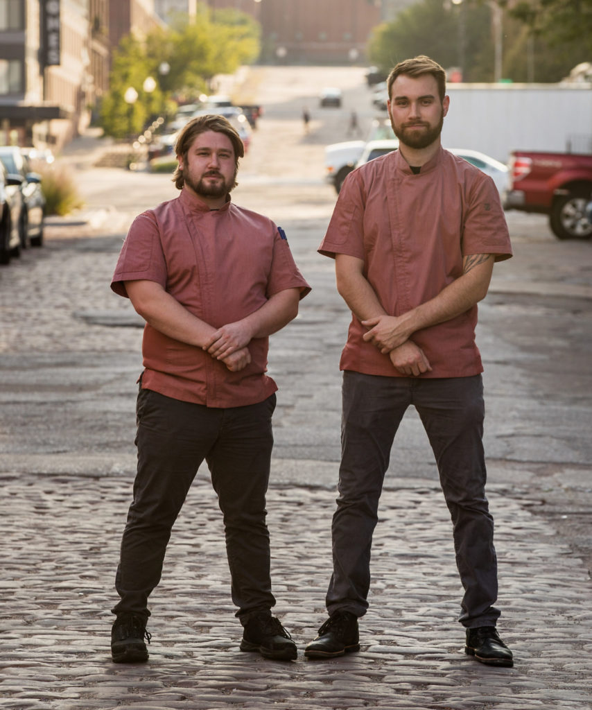 Jamen Danielson (L) and Dylan Thompson (R) of Clean Slate Food Co